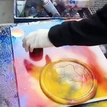 نقاشی سرعتی با اسپری نقاشی سرعتی با اسپری                            350x350