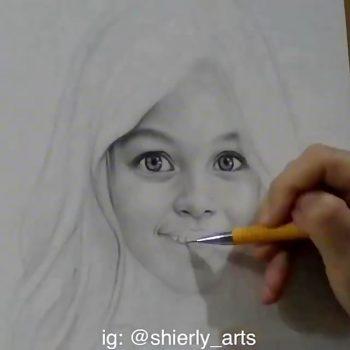 نقاشی بسیار زیبا با مداد حتما ببینید نقاشی بسیار زیبا با مداد حتما ببینید                                       350x350