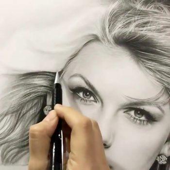 آموزش نقاشی سیاه قلم مدل مو آموزش نقاشی سیاه قلم مدل مو                                        350x350