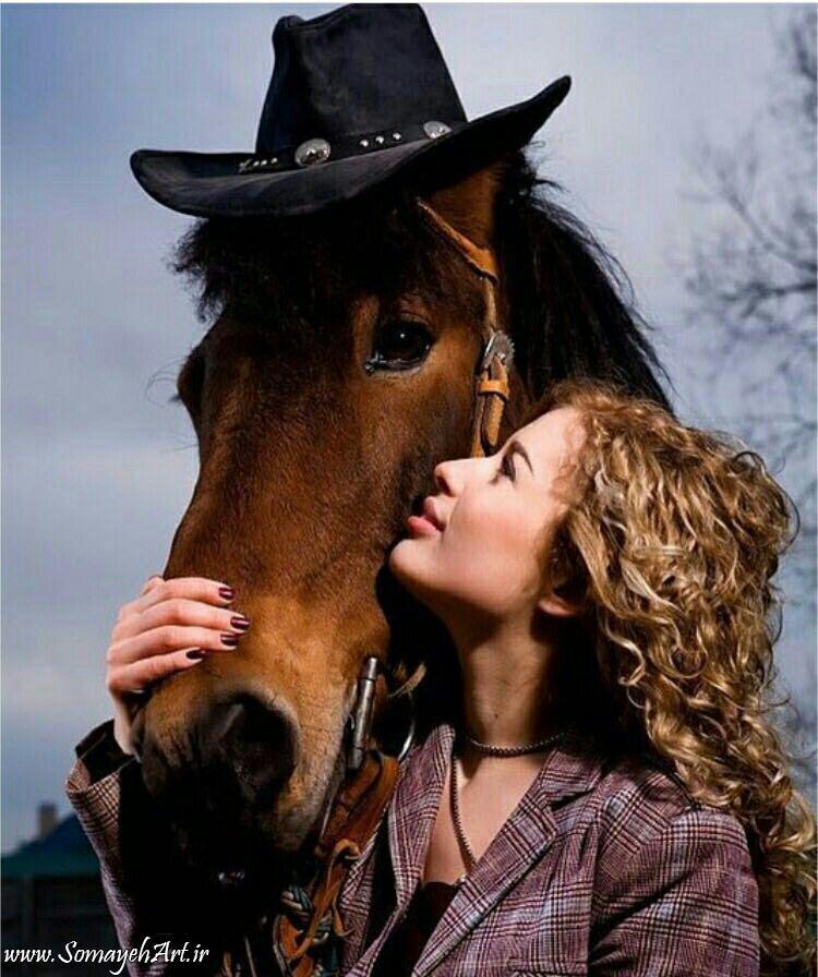 مدل نقاشی زن به همراه اسب مدل نقاشی زن به همراه اسب                                               2