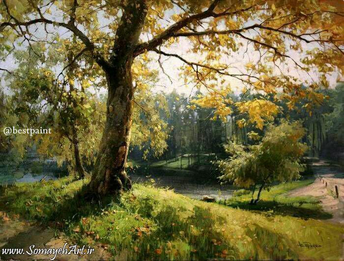مدل نقاشی منظره و طبیعت مدل نقاشی منظره و طبیعت