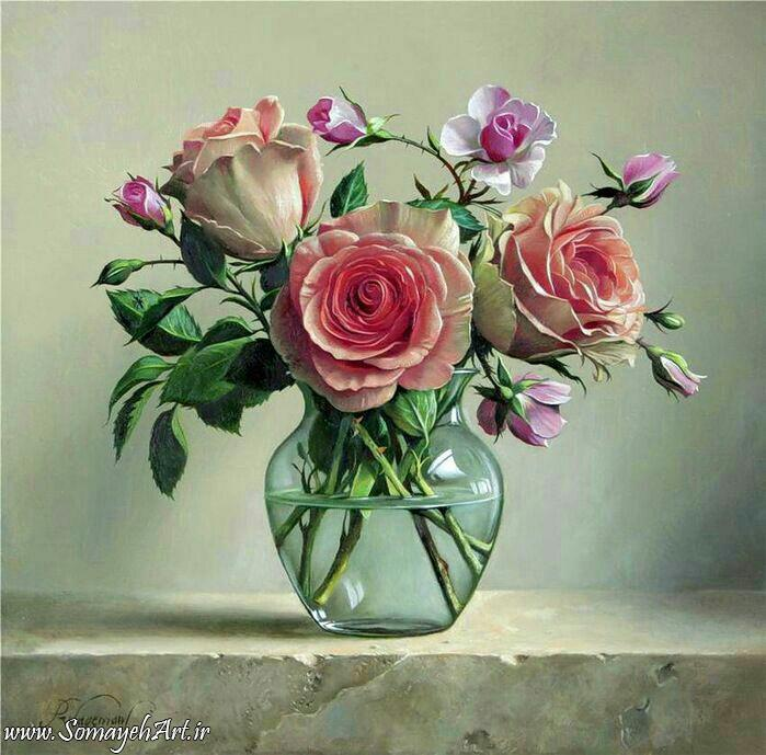 مدل نقاشی گل و گلدان گل مدل نقاشی گل و گلدان گل                                           2