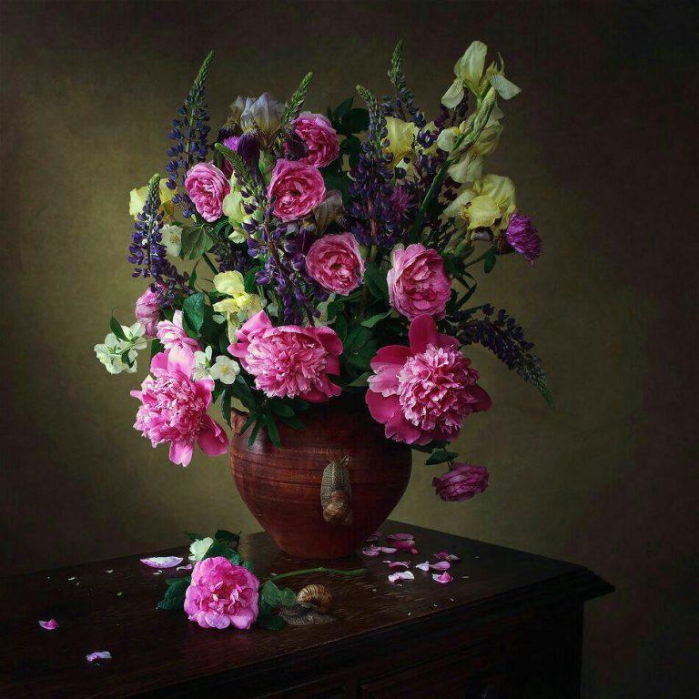 مدل نقاشی گل مدل نقاشی گل و گلدان گل مدل نقاشی گل و گلدان گل                                           768x768