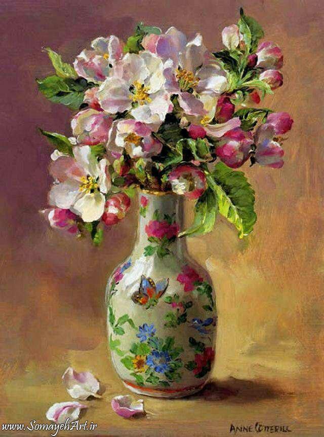 مدل نقاشی گل و گلدان گل مدل نقاشی گل و گلدان گل                                           8