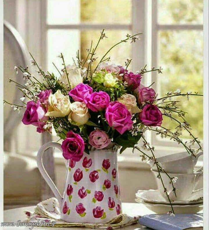 مدل نقاشی گل و گلدان گل مدل نقاشی گل و گلدان گل photo 2018 06 04 03 12 57