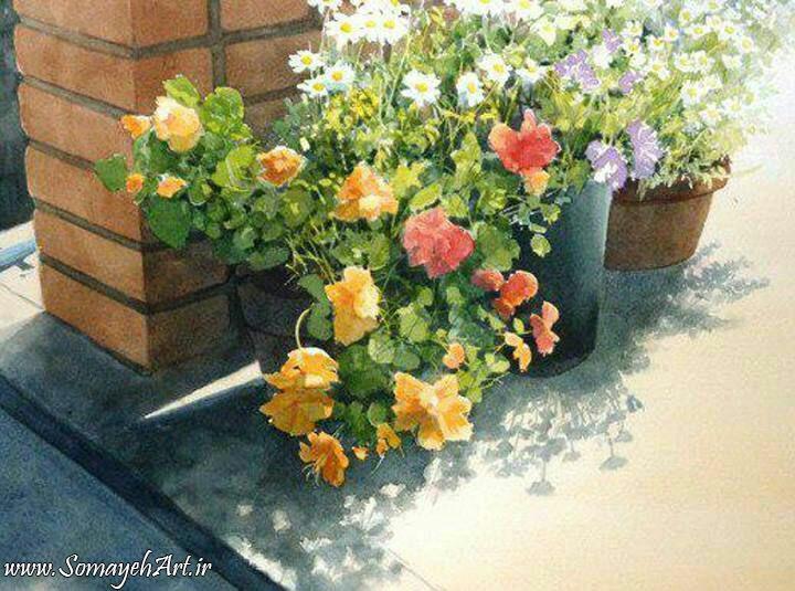 مدل نقاشی گل و گلدان گل مدل نقاشی گل و گلدان گل photo 2018 06 04 03 13 15