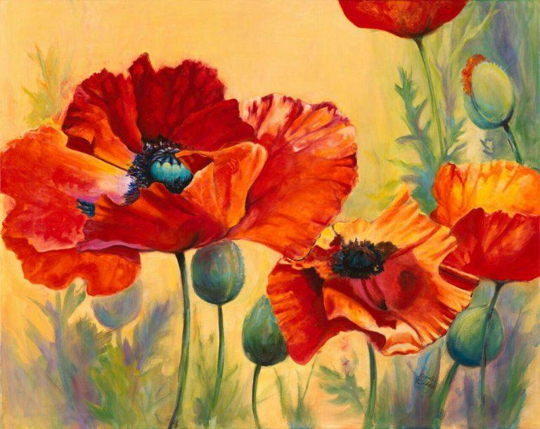 مدل نقاشی گل و گلدان گل مدل نقاشی گل و گلدان گل photo 2018 06 04 03 14 57 768x610
