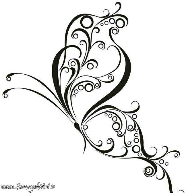 طرح پروانه برای نقاشی طرح پروانه برای نقاشی photo 2018 06 11 00 57 32