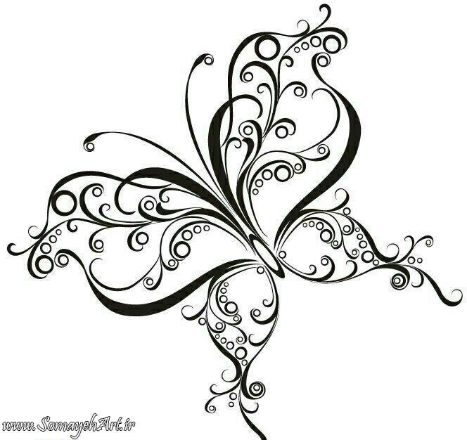 طرح پروانه برای نقاشی طرح پروانه برای نقاشی photo 2018 06 11 00 57 33