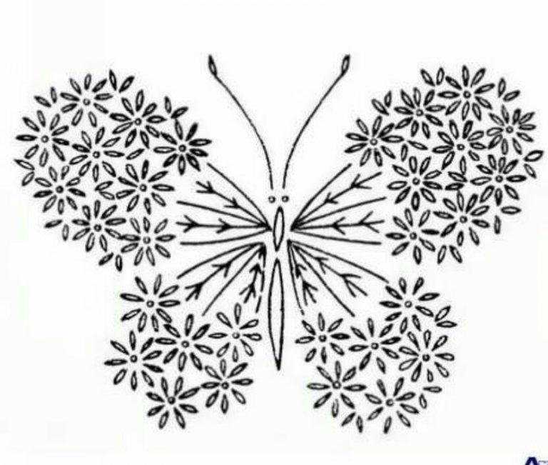طرح پروانه برای نقاشی طرح پروانه برای نقاشی photo 2018 06 11 00 59 35 768x651