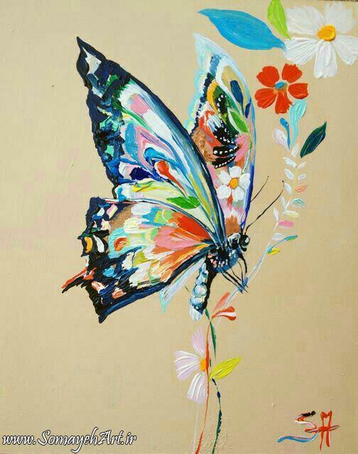 طرح پروانه برای نقاشی طرح پروانه برای نقاشی photo 2018 06 11 00 59 38