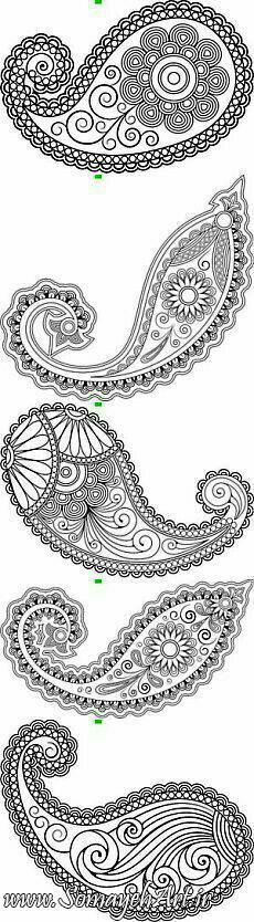 انواع طرح های بته جقه برای نقاشی انواع طرح های بته جقه برای نقاشی photo 2018 06 19 22 45 08