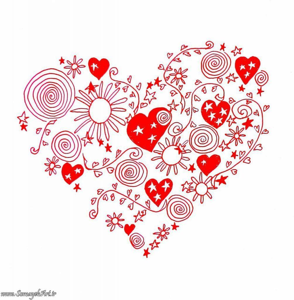 مدل نقاشی قلب