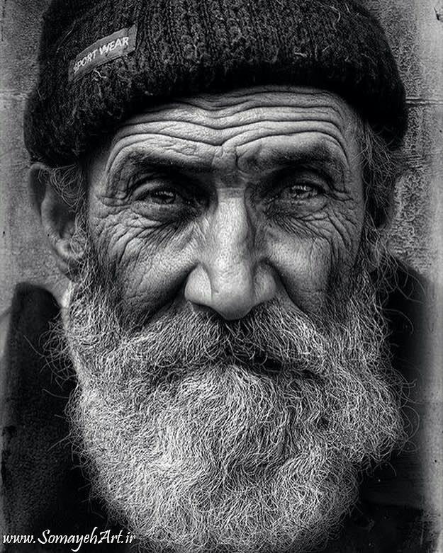 مدل نقاشی چهره مدل نقاشی چهره پیرمرد سیاه قلم مدل نقاشی چهره پیرمرد سیاه قلم