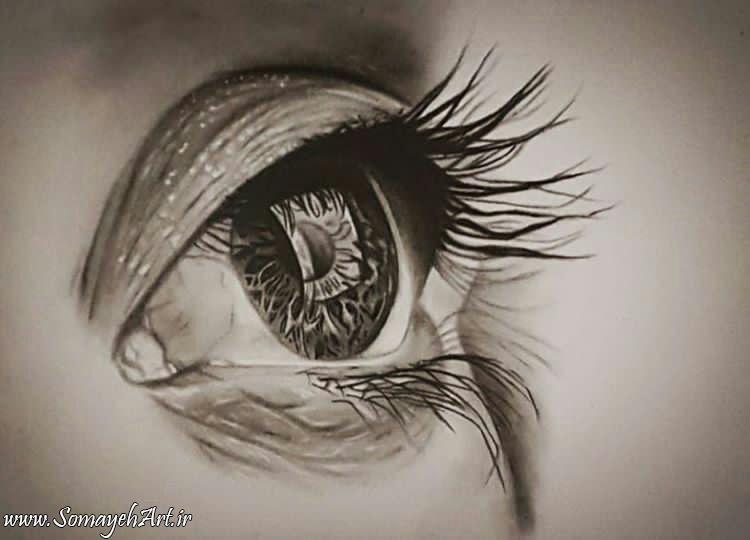 مدل نقاشی چشم مناسب برای نقاشی سیاه قلم مدل نقاشی چشم مناسب برای نقاشی سیاه قلم