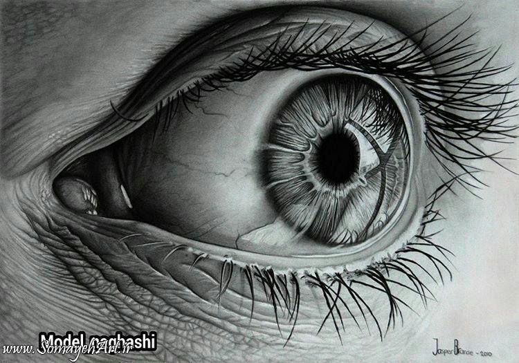 نقاشی پلنگ اهو مدل نقاشی چشم مناسب برای نقاشی سیاه قلم – نقاشی سمیه فتحی
